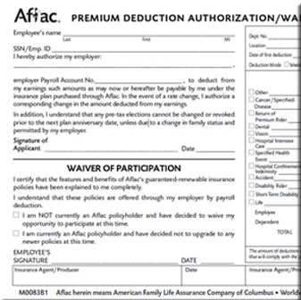 Aflac - Waiver